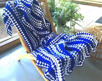 Vintage Scandi Crochet Afghan