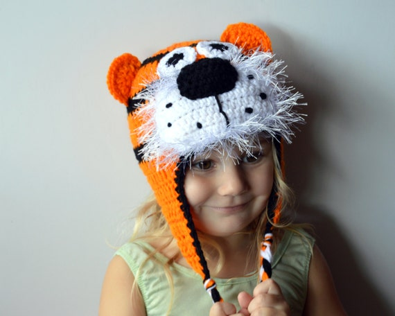 Tiger Hat Knit Kids Hat Knit Animal Hat Crochet Tiger by ToryMakes