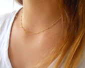 Gold Filled Satellite Necklace; Dainty Gold Necklace; Layering Necklace; Delicate Layer Gold Necklace; Everyday Necklace