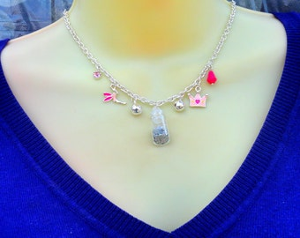 Fairy Necklace, Fairy Charm necklace,  Silver Charm Necklace