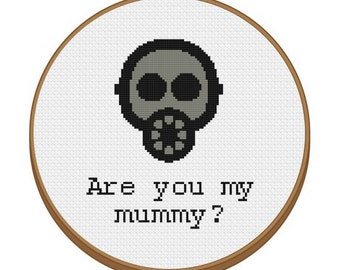 DR.WHO Are You My Mummy? Cross Stitch Pattern - Instant Download Pdf