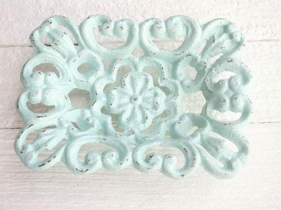 Shabby chic business card holder office decor soap dish beach for Chic business card holder