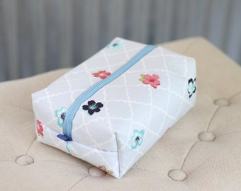 SALE* 100% Cotton Cosmetic Pouch/ Large Cosmetic Bag/ Makeup Bag/ Washable Bag/ Large Cosmetic Case/ Toiletry Bag/ Cotton Pouch/ Cosmetic