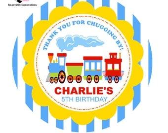 Choo Choo Train themed Favor Tags