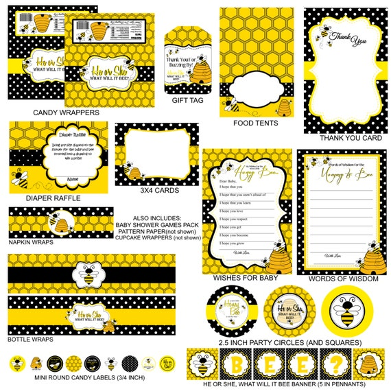 what will it bee baby shower package gender reveal package instant