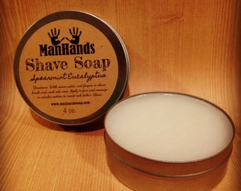 Spearmint Eucalyptus Shave Soap
