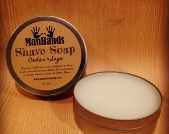 Cedar & Sage Shave Soap