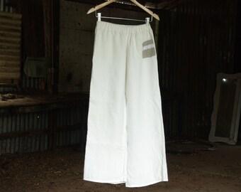 Women's French Linen Sleep Slacks ~  Women's Sleep Pants Pyjamas Pijama Ladies Sleepwear Loungewear Lingerie Pajamas sleep topOrchard Rose