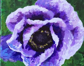 Small Purple Flower - Print