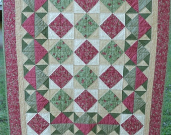 Red and Green Lap Quilt
