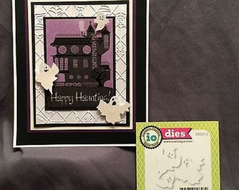 Metal Cutting Dies GHOST TRIO die set Impression Obsession - for Halloween handmade cards, invites, scrapbook pages, paper crafts  DIE121-E