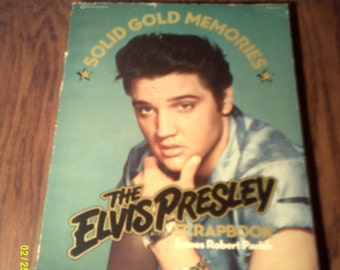 Vintage 1977 The Elvis Presley Scrapbook, by James Robert Parish, Elvis Books, Elvis Picture Book, Elvis Souvenir, Elvis Presley