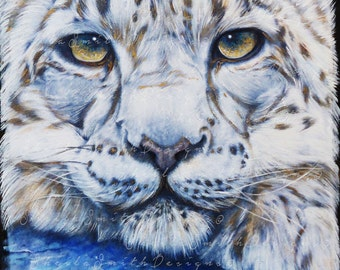 Original Siberian Tiger Acrylic Painting, on stretched cotton canvas by Sheila A. Smith