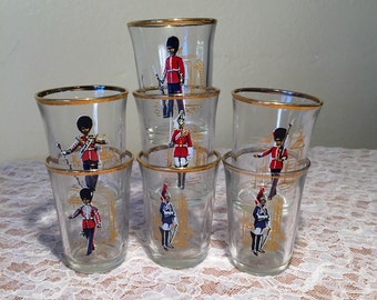 Set of 7 MC French Soldiers Shot Glasses