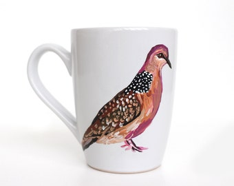 Hand Painted Mug - Dove - Original Painting