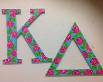 Kappa delta large Greek letters sorority hand painted