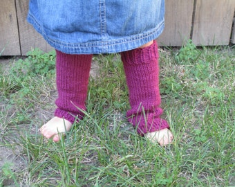 Little Leg Warmers in Raspberry - available in infant, toddler, and child sizes
