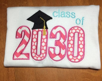Personalized Class of 2030 Shirt, Onesie, Romper or Dress