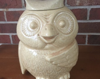 McCoy Owl Cookie Jar with lid