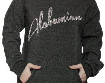 ALABAMA Sweatshirt - ALABAMIAN - Alabama Home Shirt - I'm an Alabamian - Off The shoulder Sweatshirt Eco Fleece SWEATSHIRT Gift for Her