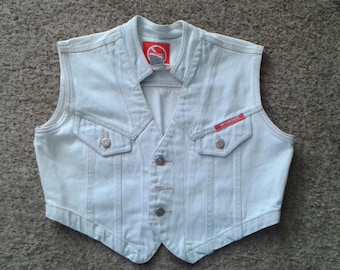 Vintage Cropped Denim Vest Size M
