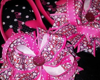 Pink Inspired bows for Toes