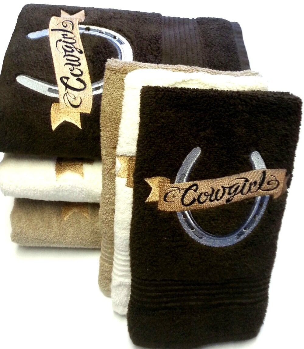 Bath Towels Sale: Bath Towels On Sale Cowgirl Horseshoe Bath Towel Sets