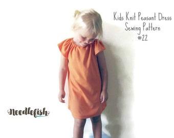 PEASANT DRESS PATTERN - Amyrah Peasant Dress Pattern -Sizes 12 months - 9/10 - Easy Sewing Pattern