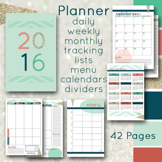 Calendar Half Sheet : Planner printable inserts a half sheet pages by