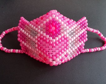 PINK PLUR Warrior Kandi Mask