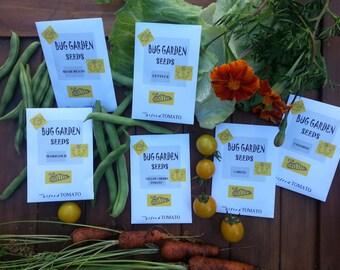 6 packets of kids garden seeds organic seeds heirloom vegetables garden party favor garden kit party. beautiful ideas. Home Design Ideas