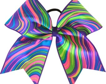 Neon Twister Cheer Bow | Cheer Bow | Cheerleading Bow