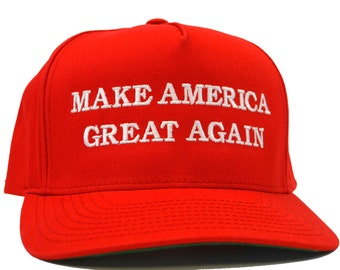 Donald TRUMP Hat - Make America Great Again - High Quality - Red Embroidered