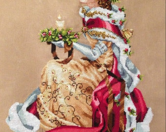 Royal Holiday - Mirabilia's Empress of Christmas Completed Cross Stitch