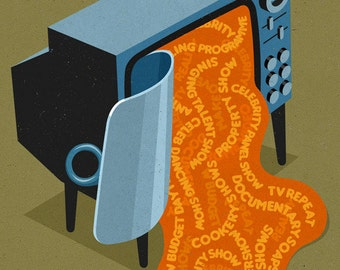 Canned tv, signed limited edition print