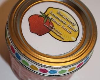 4 oz Organic Strawberry Lemonade Sugar Hand and Body Scrub
