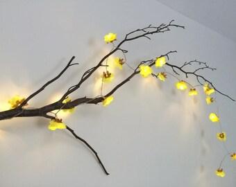 Yellow Flower Decor Etsy - Flower lights for bedroom