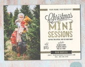 Christmas Mini Session Template - Christmas Photography Marketing - Photoshop template - IC023 - INSTANT DOWNLOAD