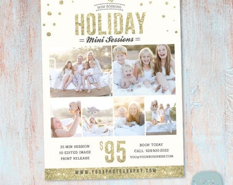 Christmas Marketing Board -  Mini Session Template Photoshop template - IC024 - INSTANT DOWNLOAD