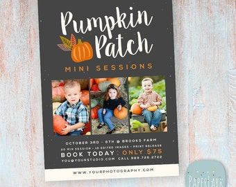 Halloween Mini Sessions - Photography Marketing Board - Photoshop Template - ID009 - INSTANT DOWNLOAD