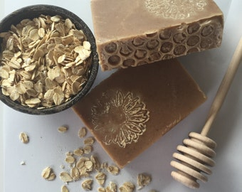 Honey & Oats Cold Process Soap with goats milk