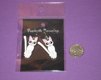 Cat Charm Earrings - D