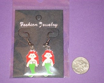 Mermaid Charm Earrings - A
