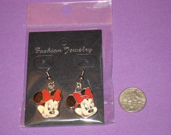 Minnie Charm Earrings - A