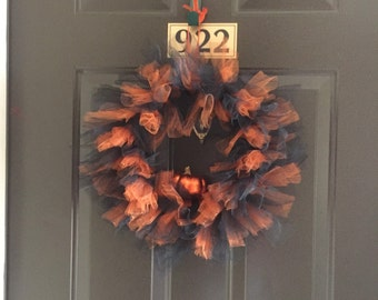 Fluffy tulle Halloween Wreath