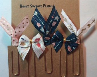 Arrows - Set of 5 Ribbon Planner Clips / Bookmarks