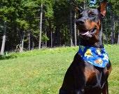 Tie-on Dog Bandana in POKEMON Blue - XSmall/Small/Medium/Large/XLarge
