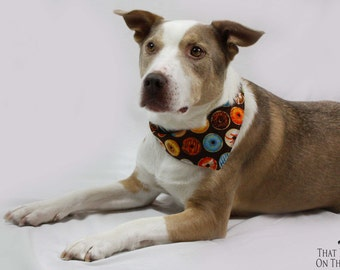 Tie-on Dog Bandana Donut and Dog Biscuit* - Extra Small/Small/Medium