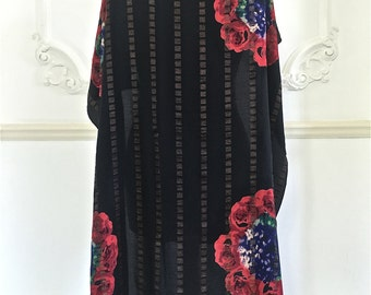 1930s Floral Lame Shawl
