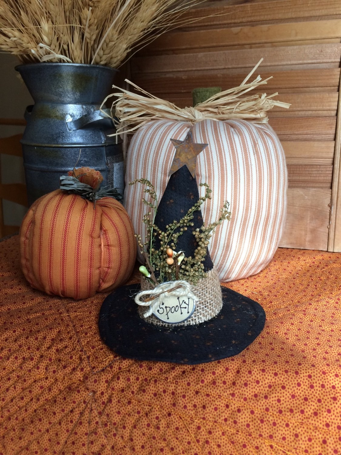 Halloween witch hat primitive fall decor by primitivesbycyn for 3 witches halloween decoration